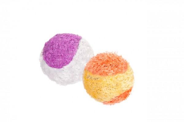 Plüsch Ball Tennis ø: 4.5 cm Katzenspielzeug 12 Stück
