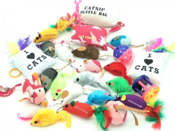 Katzenspielzeug 20-teiliges Set gemischt