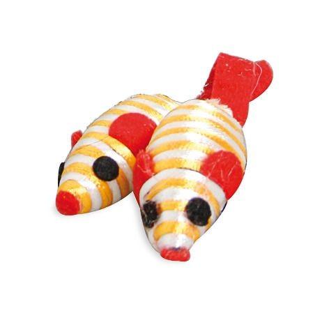 Rainbow Mäuse 5 cm Katzenspielzeug 12 Stück
