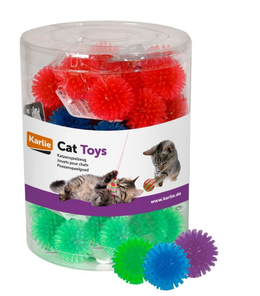 Bunte Igelbälle Katzenspielzeug 48 Stück ø: 3.5 cm