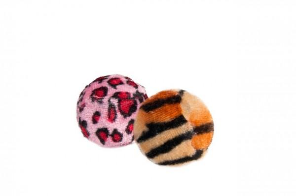 Plüsch Ball Safari ø: 4 cm Katzenspielzeug 12 Stück